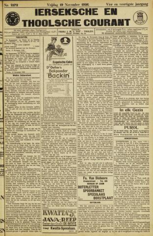 Ierseksche en Thoolsche Courant 1926-11-19