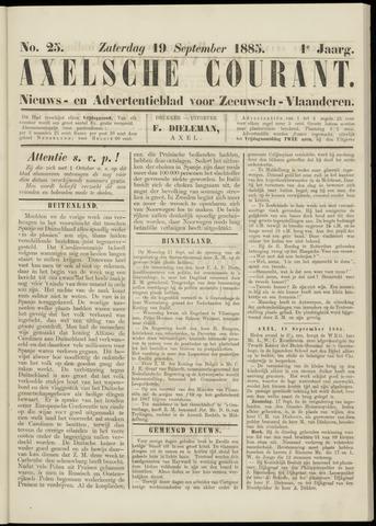 Axelsche Courant 1885-09-19