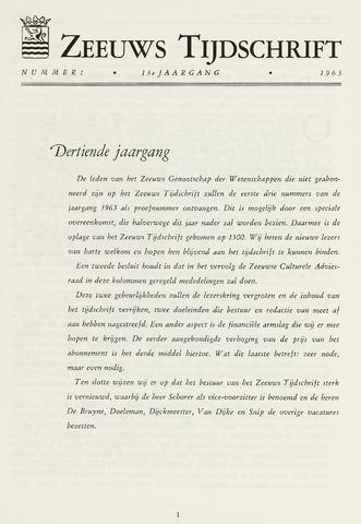Zeeuws Tijdschrift 1963-01-01