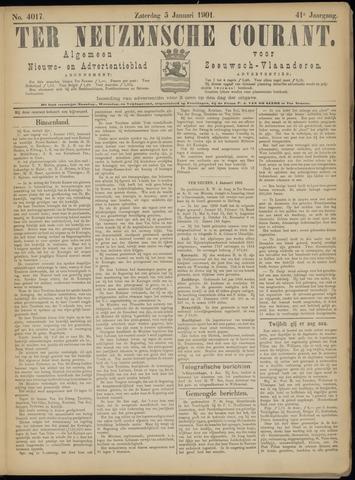 Ter Neuzensche Courant. Algemeen Nieuws- en Advertentieblad voor Zeeuwsch-Vlaanderen / Neuzensche Courant ... (idem) / (Algemeen) nieuws en advertentieblad voor Zeeuwsch-Vlaanderen 1901-01-05