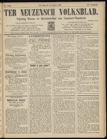 Ter Neuzensch Volksblad. Vrijzinnig nieuws- en advertentieblad voor Zeeuwsch- Vlaanderen / Zeeuwsch Nieuwsblad. Nieuws- en advertentieblad voor Zeeland 1913-11-29