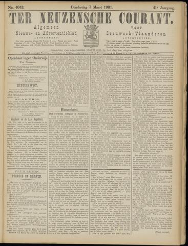 Ter Neuzensche Courant. Algemeen Nieuws- en Advertentieblad voor Zeeuwsch-Vlaanderen / Neuzensche Courant ... (idem) / (Algemeen) nieuws en advertentieblad voor Zeeuwsch-Vlaanderen 1901-03-07