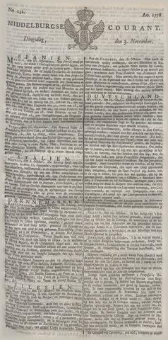 Middelburgsche Courant 1778-11-03