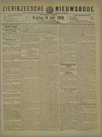 Zierikzeesche Nieuwsbode 1916-07-14