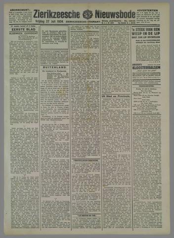 Zierikzeesche Nieuwsbode 1934-07-27