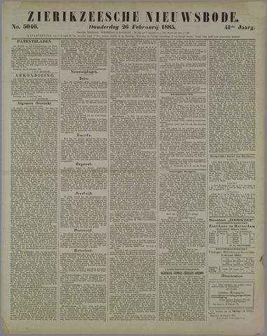 Zierikzeesche Nieuwsbode 1885-02-26