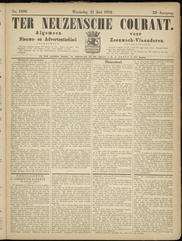 Ter Neuzensche Courant. Algemeen Nieuws- en Advertentieblad voor Zeeuwsch-Vlaanderen / Neuzensche Courant ... (idem) / (Algemeen) nieuws en advertentieblad voor Zeeuwsch-Vlaanderen 1883-06-27