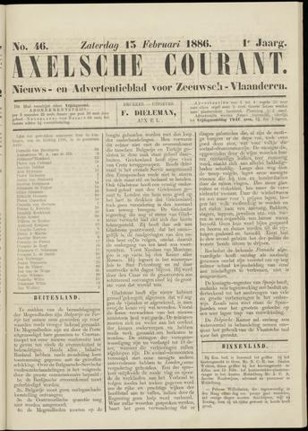 Axelsche Courant 1886-02-13