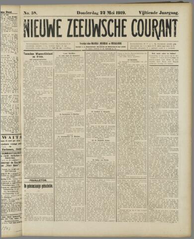 Nieuwe Zeeuwsche Courant 1919-05-22
