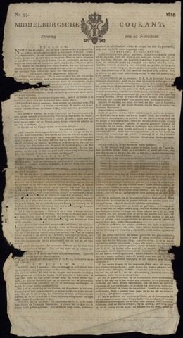 Middelburgsche Courant 1814-11-26