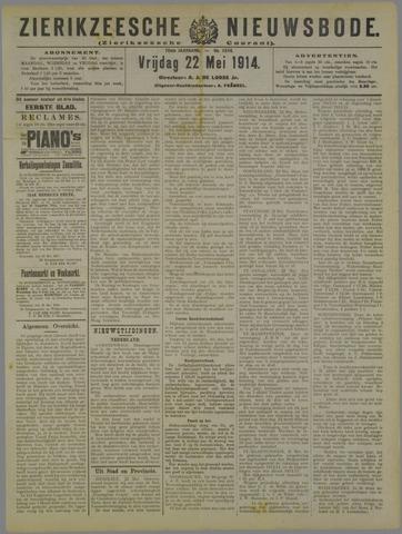 Zierikzeesche Nieuwsbode 1914-05-22