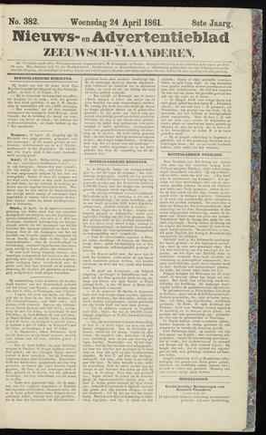 Ter Neuzensche Courant. Algemeen Nieuws- en Advertentieblad voor Zeeuwsch-Vlaanderen / Neuzensche Courant ... (idem) / (Algemeen) nieuws en advertentieblad voor Zeeuwsch-Vlaanderen 1861-04-24