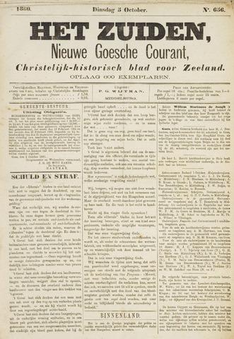 Het Zuiden, Christelijk-historisch blad 1880-10-05