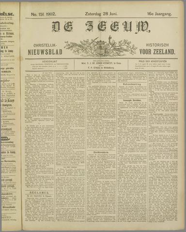 De Zeeuw. Christelijk-historisch nieuwsblad voor Zeeland 1902-06-28