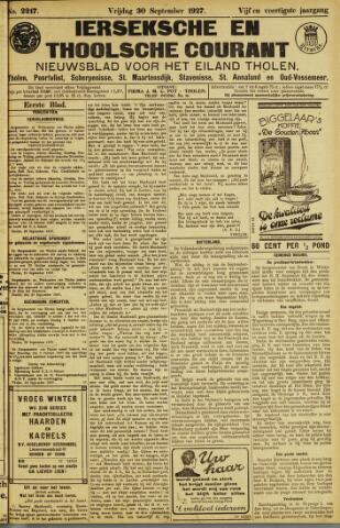 Ierseksche en Thoolsche Courant 1927-09-30