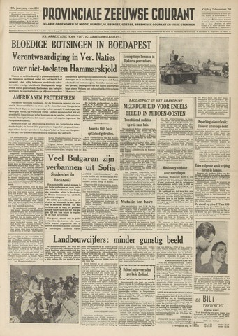 Provinciale Zeeuwse Courant 1956-12-07