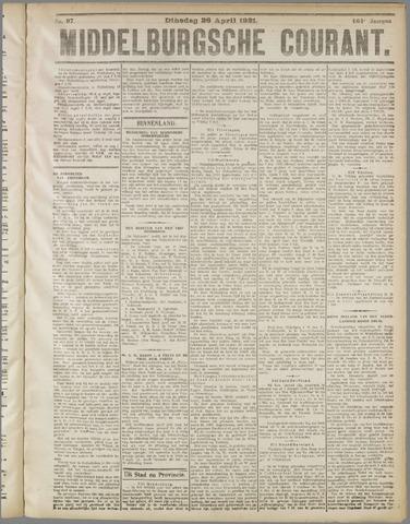 Middelburgsche Courant 1921-04-26