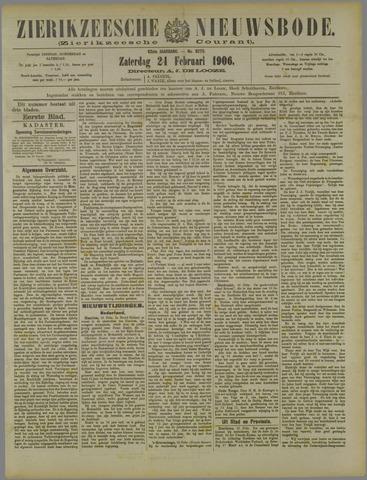 Zierikzeesche Nieuwsbode 1906-02-24