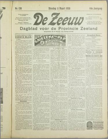 De Zeeuw. Christelijk-historisch nieuwsblad voor Zeeland 1930-03-11