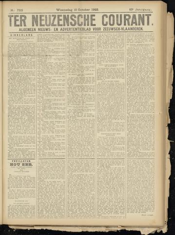 Ter Neuzensche Courant. Algemeen Nieuws- en Advertentieblad voor Zeeuwsch-Vlaanderen / Neuzensche Courant ... (idem) / (Algemeen) nieuws en advertentieblad voor Zeeuwsch-Vlaanderen 1923-10-10