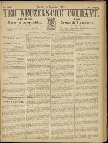Ter Neuzensche Courant. Algemeen Nieuws- en Advertentieblad voor Zeeuwsch-Vlaanderen / Neuzensche Courant ... (idem) / (Algemeen) nieuws en advertentieblad voor Zeeuwsch-Vlaanderen 1896-09-19