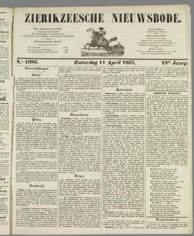 Zierikzeesche Nieuwsbode 1863-04-11