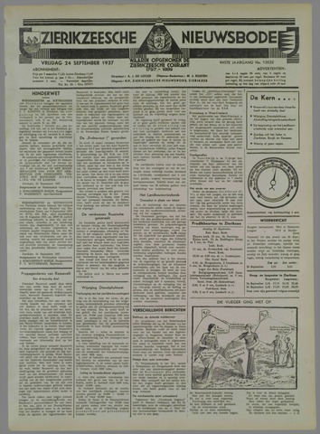 Zierikzeesche Nieuwsbode 1937-09-24
