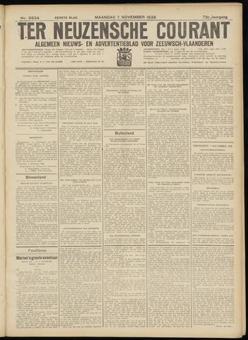 Ter Neuzensche Courant. Algemeen Nieuws- en Advertentieblad voor Zeeuwsch-Vlaanderen / Neuzensche Courant ... (idem) / (Algemeen) nieuws en advertentieblad voor Zeeuwsch-Vlaanderen 1938-11-07