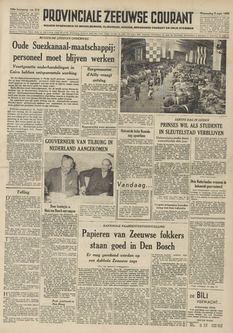 Provinciale Zeeuwse Courant 1956-09-05