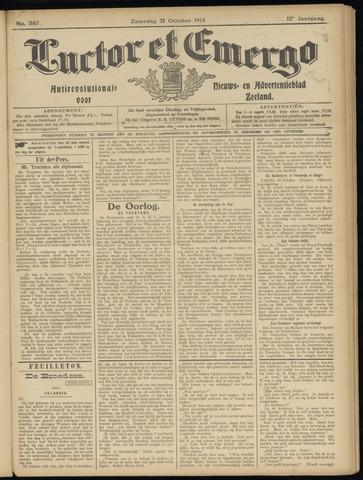 Luctor et Emergo. Antirevolutionair nieuws- en advertentieblad voor Zeeland / Zeeuwsch-Vlaanderen. Orgaan ter verspreiding van de christelijke beginselen in Zeeuwsch-Vlaanderen 1914-10-31