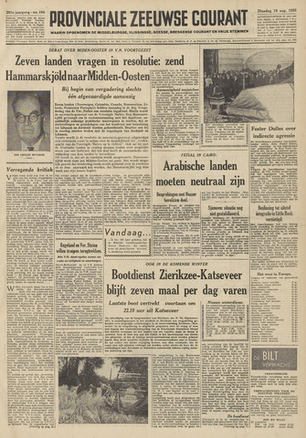 Provinciale Zeeuwse Courant 1958-08-19