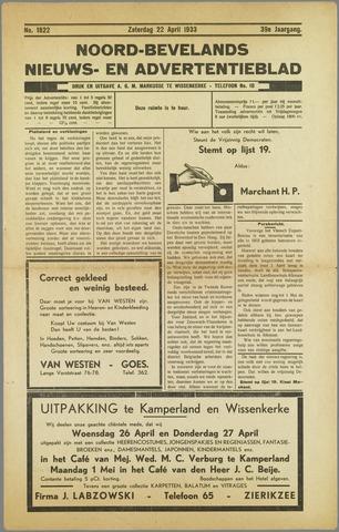 Noord-Bevelands Nieuws- en advertentieblad 1933-04-22