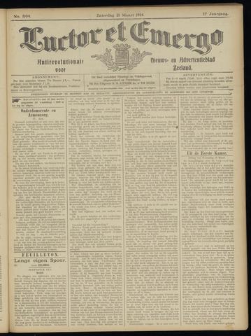 Luctor et Emergo. Antirevolutionair nieuws- en advertentieblad voor Zeeland / Zeeuwsch-Vlaanderen. Orgaan ter verspreiding van de christelijke beginselen in Zeeuwsch-Vlaanderen 1914-03-21