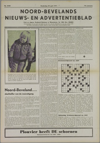 Noord-Bevelands Nieuws- en advertentieblad 1971-04-22