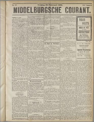 Middelburgsche Courant 1922-02-24
