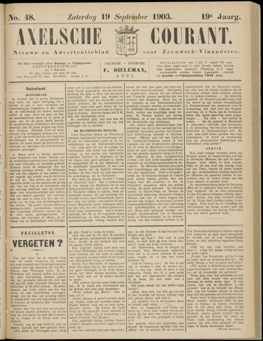 Axelsche Courant 1903-09-19
