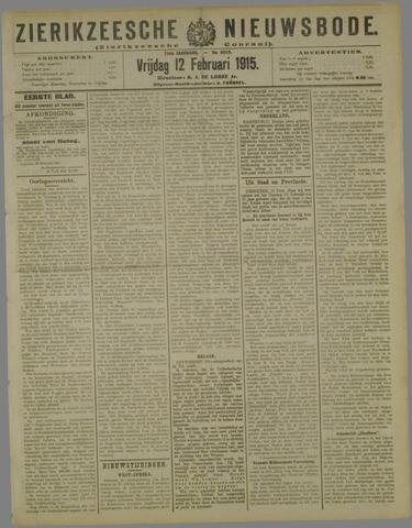 Zierikzeesche Nieuwsbode 1915-02-12