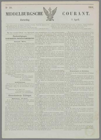 Middelburgsche Courant 1854-04-01