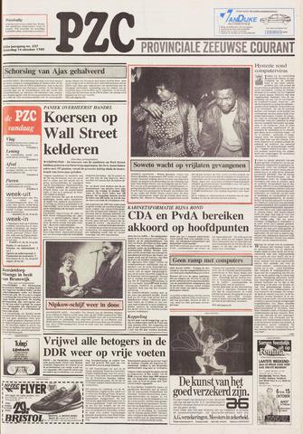 Provinciale Zeeuwse Courant 1989-10-14