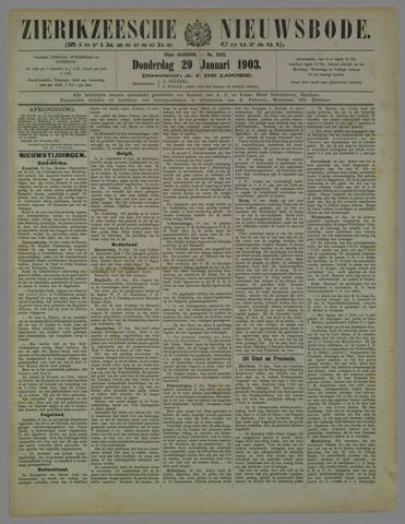 Zierikzeesche Nieuwsbode 1903-01-29