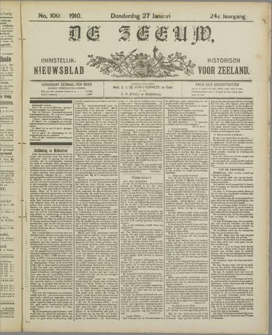 De Zeeuw. Christelijk-historisch nieuwsblad voor Zeeland 1910-01-27