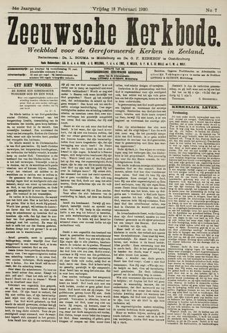Zeeuwsche kerkbode, weekblad gewijd aan de belangen der gereformeerde kerken/ Zeeuwsch kerkblad 1920-02-13