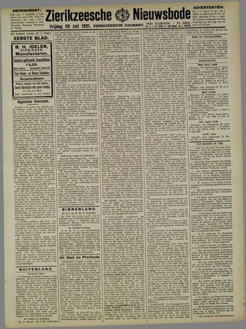 Zierikzeesche Nieuwsbode 1921-07-29