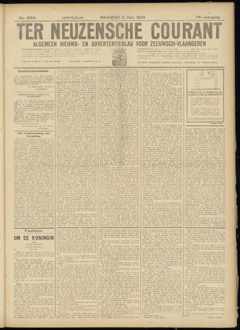 Ter Neuzensche Courant. Algemeen Nieuws- en Advertentieblad voor Zeeuwsch-Vlaanderen / Neuzensche Courant ... (idem) / (Algemeen) nieuws en advertentieblad voor Zeeuwsch-Vlaanderen 1934-07-02
