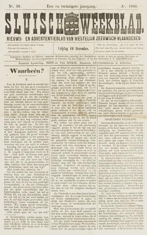 Sluisch Weekblad. Nieuws- en advertentieblad voor Westelijk Zeeuwsch-Vlaanderen 1880-12-10