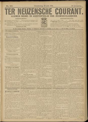 Ter Neuzensche Courant. Algemeen Nieuws- en Advertentieblad voor Zeeuwsch-Vlaanderen / Neuzensche Courant ... (idem) / (Algemeen) nieuws en advertentieblad voor Zeeuwsch-Vlaanderen 1914-07-30
