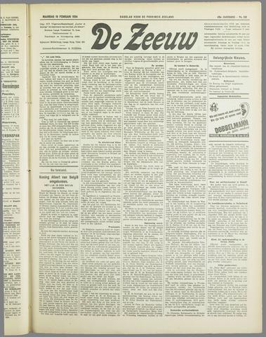 De Zeeuw. Christelijk-historisch nieuwsblad voor Zeeland 1934-02-19