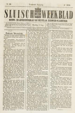 Sluisch Weekblad. Nieuws- en advertentieblad voor Westelijk Zeeuwsch-Vlaanderen 1873-08-05