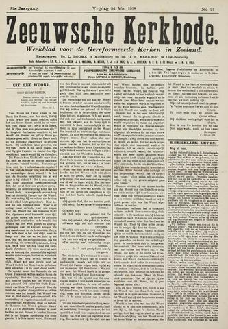 Zeeuwsche kerkbode, weekblad gewijd aan de belangen der gereformeerde kerken/ Zeeuwsch kerkblad 1918-05-24