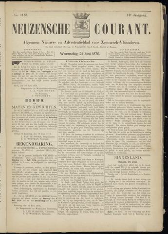 Ter Neuzensche Courant. Algemeen Nieuws- en Advertentieblad voor Zeeuwsch-Vlaanderen / Neuzensche Courant ... (idem) / (Algemeen) nieuws en advertentieblad voor Zeeuwsch-Vlaanderen 1876-06-21